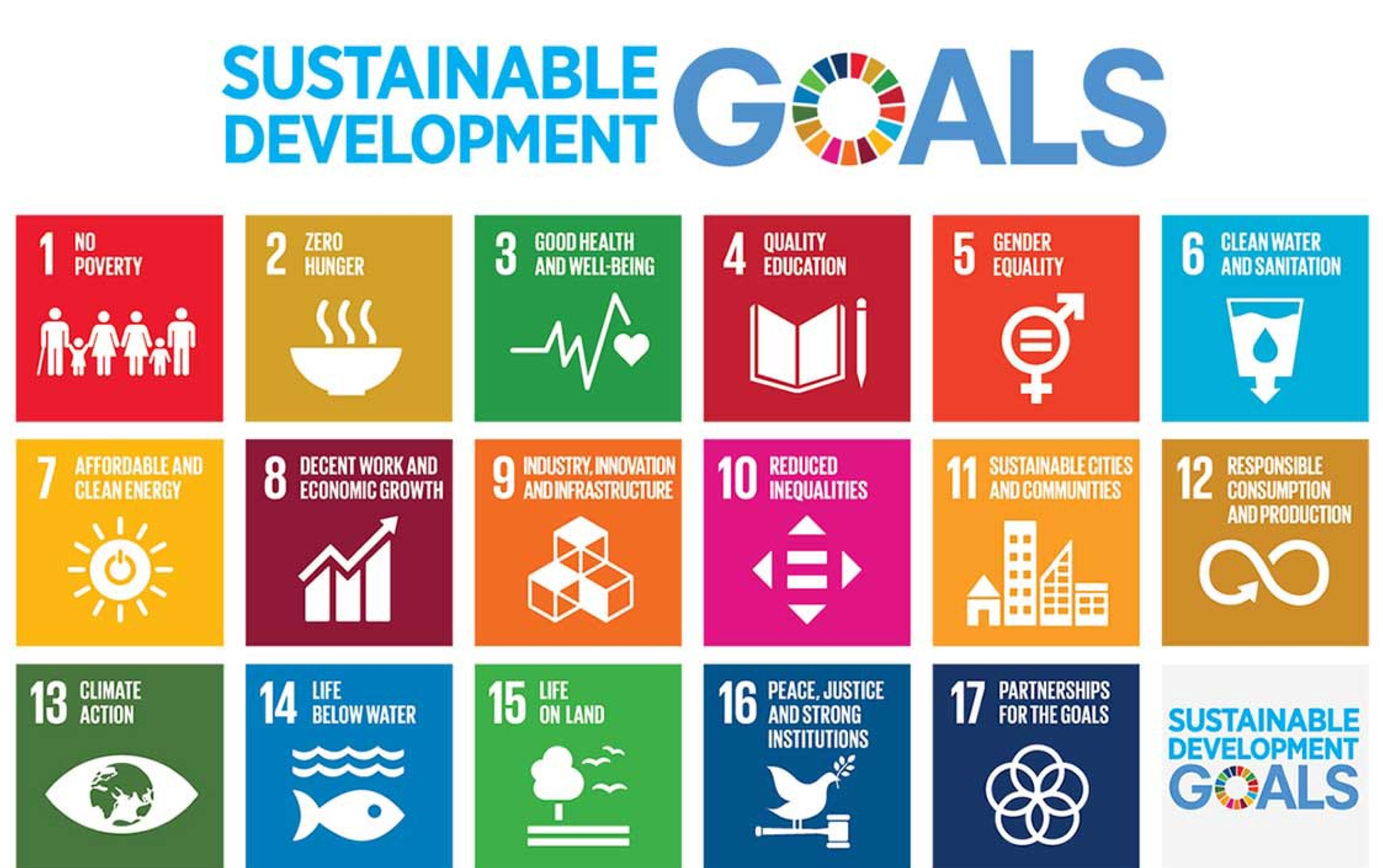 table of the 17 united nations sdg's